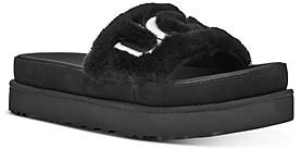UGG Ugg? Women's Laton Logo Embroidered Slide Sandals