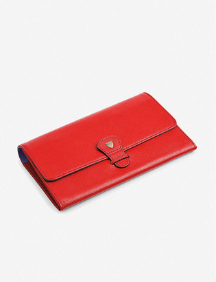 Aspinal of London Classic saffiano-leather travel wallet