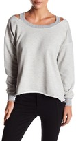 Sweet Romeo Cold-Shoulder Pullover Sweatshirt