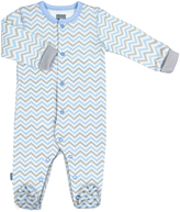 Kushies Light Blue Baby Front Snap Sleeper - Infant