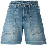 Current/Elliott tie-waist shorts - women - Cotton/Polyester/Spandex/Elastane - 30