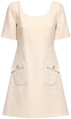 Gucci Cotton & Wool Tweed Mini Dress
