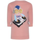 Fendi FendiBaby Girls Pink DJ Piro-Chan Dress