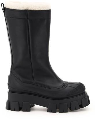 Prada Shearling Lined Platform Boots
