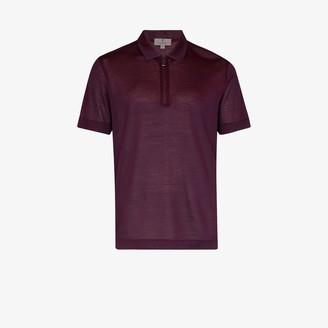 Canali Zip-Up Polo Shirt
