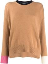Marni contrast sleeve knit jumper