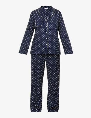 Derek Rose Drose Plaza polka-dot cotton pyjama set