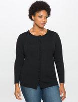 ELOQUII Plus Size Basic Rib Knit Cardigan