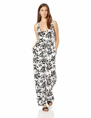 Athena Women's Margherita Floral Wide Leg Swimsuit Cover Up Romper