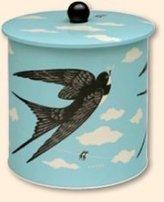 John Hanna Swallow Design Biscuit Barrel