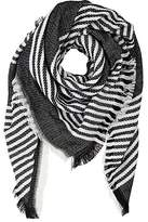 Barneys New York WOMEN'S MIXED-STRIPE WOVEN SCARF