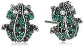 Marc Jacobs Pave Frog Charms Stud Earrings