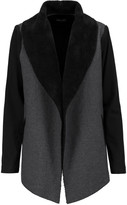 Splendid Paneled faux shearling and coton-jersey jacket