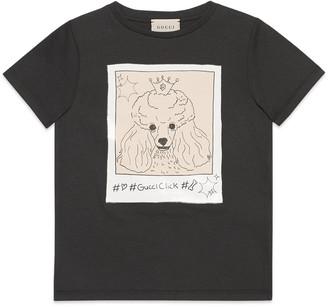 Gucci Children's #GucciClick print T-shirt