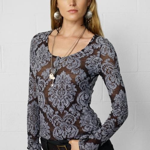 Denim & Supply Ralph Lauren Burnout Long-Sleeved Henley