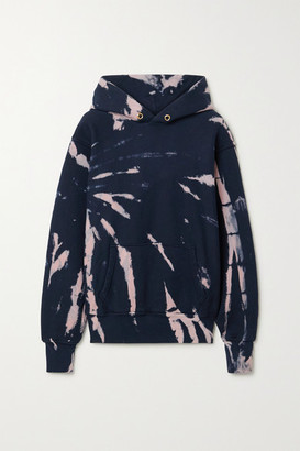 Les Tien - Tie-dyed Cotton-jersey Hoodie - Navy