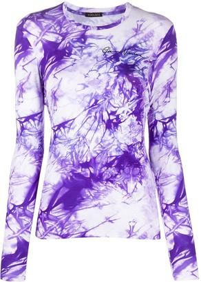 Versace tie-dye long sleeve T-shirt