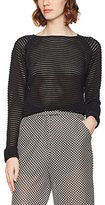 Bench Women's Knitted Mesh Crew Jumper,(Manufacturer Size: M)