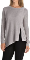 Magaschoni Asymmetrical Front Zip Sweater - Cashmere (For Women)