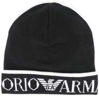 Emporio Armani Logo Embroidered Hat