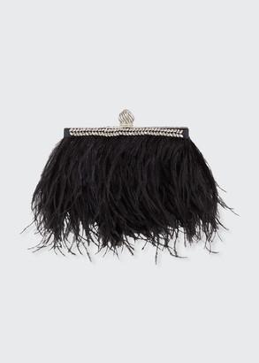 Jimmy Choo Celeste Ostrich Feather Clutch Bag