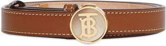 Burberry Monogram Motif Leather Belt