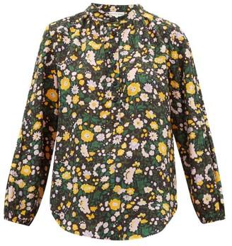 Apiece Apart Core Bravo Floral-print Silk Blouse - Womens - Multi