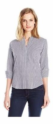 Foxcroft Women's 3/4 Sleeve Taylor in Optic Dot Non Iron Shirt 2