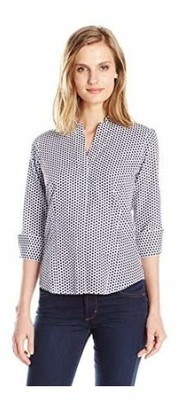 Foxcroft Women's 3/4 Sleeve Taylor in Optic Dot Non Iron Shirt 4