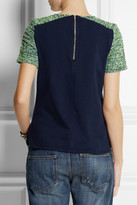 J.Crew Cotton-jersey and tweed top
