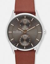 Skagen Holst Multifunction Leather Watch