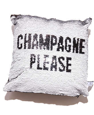 8 Oak Lane Champagne Please Sequin Pillow Black Multi 1 Size