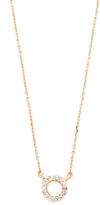 Adina 14k Gold Super Tiny Pave Circle Necklace