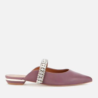 Kurt Geiger Women's Princely Leather Pointed Flat Mules