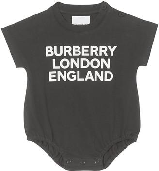 Burberry Kid's Berta Logo Printed Bodysuit, Size 1-18M
