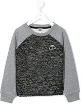 Karl Lagerfeld tweed effect panel sweatshirt