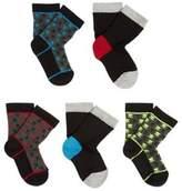 F&F 5 Pair Pack of Skull Socks, Boy's