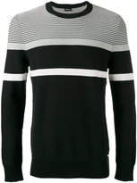 Diesel striped knit jumper - men - Cotton - S