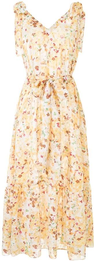 Bambah Triangle floral print maxi dress