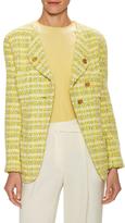 Chanel Vintage Plaid Boucle Jacket