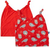 Kickee Pants Double Knot Hat Set (Baby) - Jazz/Jazz Birds-12-24 Months