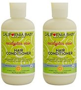 California Baby Hair Conditioner, Eucalyptus Ease - 8.5 oz. 2-Pack by