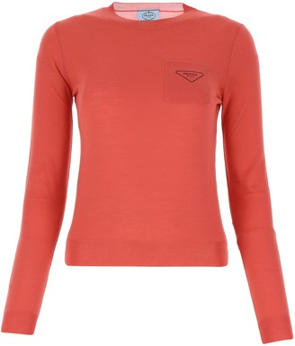 Prada Logo Pocket Knit Jumper
