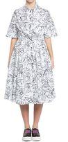 Kenzo 'antonio Sketches' Dress