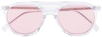 One, All, Every X Rvs Sustain X Ugo Rondinone Aviator Frame Sunglasses