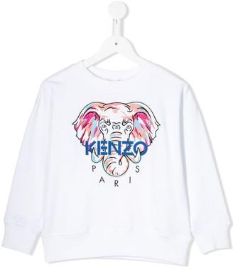 Kenzo Embroidered Elephant Logo Sweatshirt