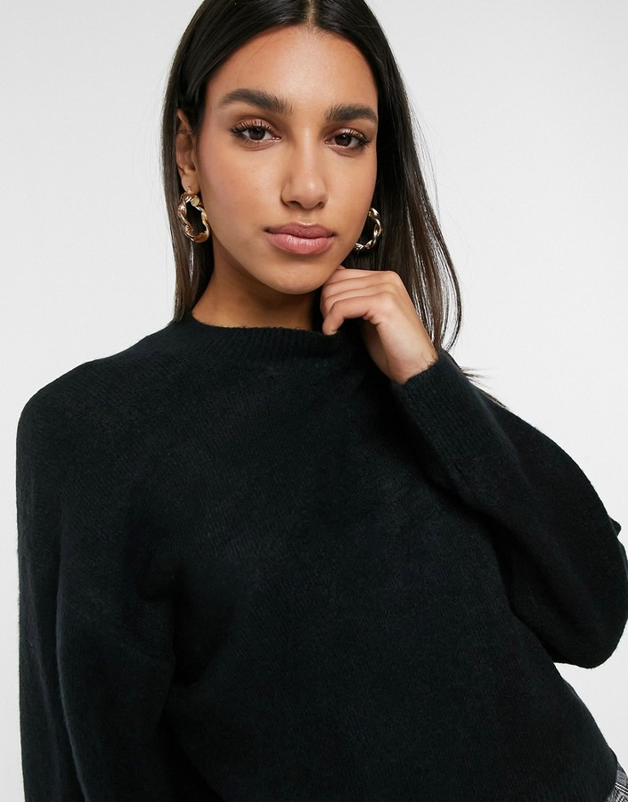 Thumbnail for your product : Weekday Aggie knitted jumper in black