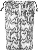 Isabel Marant sleeveless chevron print top - women - Silk/Polyester/Viscose - 38