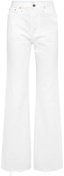 GRLFRND Carla High-rise Flared Jeans - White