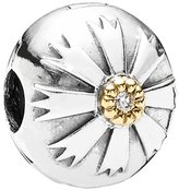 Unknown PANDORA Sterling and 14K Gold Friendship Flower Clip with CZ Charm 790988CZ